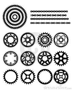 bicycle cog vector - Google Search