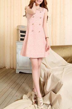 Oasap, Double Breasted Polka Dot Strappy Mini Dress $31
