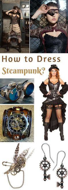How to Dress Steampunk? Steampunk Clothing, Fashion and Costumes by TashaTips at http://tashatips.com/2018/05/steampunk-clothing-fashion-and-costumes/ #steampunk #TashaTips #steam #costume #halloweencostumes #party #victorian