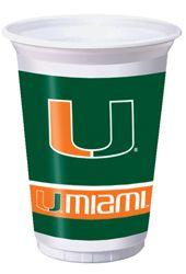 University of Miami Plastic Beverage Cups