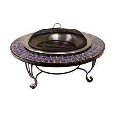 Catalina Creations Glass Mosaic Fire Pit-AD389 at The Home Depot