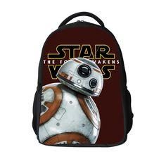 fd6e07848c 16 12Inch Popular School Bag BB8 Cartoon Backpacks Child Star Wars Backpack  For Kids Boys Star Wars Bag For Girls Teenagers Bags