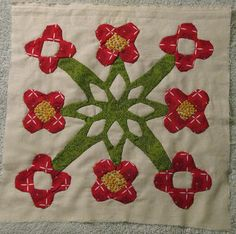 Heilala flower quilt square, Hawaiian style, 2008.