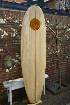 Board #8, 2016. Bite Me.  Paulownia hollow surfboard
