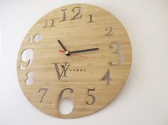 Personalised laser cut clock.