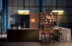 Reclaimed kitchen kitchen cabinets by Aster Cucine