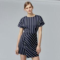 Warehouse, STRIPE DRESS Black Stripe 4