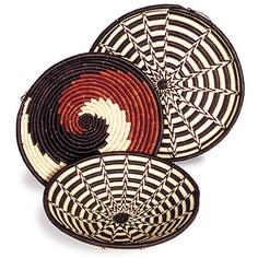 Africa   Banana fiber basket bowls from Kenya