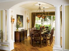 formal dining rooms with columns. wood columns add elegance and luxury to this formal dining room #glhomes | interior design ideas for homes sale in florida pinterest columns, rooms with m