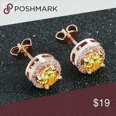 Selling this .75 ct Yellow Rose Gold Stud Earrings on Poshmark! My username is: chebellachesei. #shopmycloset #poshmark #fashion #shopping #style #forsale #Jewelry