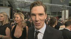 Oscars 2014: Benedict Cumberbatch's excitement on the red carpet