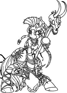 Cool Zecora Witch Doctor Color Anime Apothecary Coloring Page