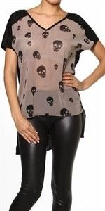 Sheer skull blouse, $25.00 by Appealing Boutique