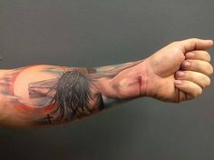 If you want to make Jesus on the cross Tattoo motive yourself and you are looking for the suitable design or just interested in tattoo, then this site is for you. 3d Tattoos For Men, Tattoos 3d, Tatoos, Sleeve Tattoos, Faith Tattoos, Religious Tattoos For Men, Crazy Tattoos, Badass Tattoos, Skull Tattoos