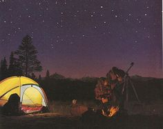 Camping and Star Gazing !