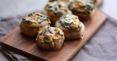 Combine two great appetizers in one with these spinach and artichoke stuffed mushrooms. Great for holiday parties.