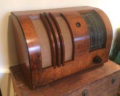 Excellent Vintage 1940 Wood KUNGS Worldwide Tube Radio 404 445 Art Deco Sweden | eBay