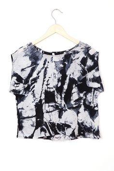 B&W Abstract Maena Top