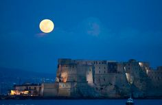 Naples, Italy. Egg Castle: Virgil, who had a reputation in medieval times as a great sorcerer put a magical egg into the foundations to support the fortifications of the castel, thus Egg Castle