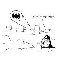 Batman también tiene problemas con el tamaño del logo.