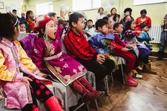 Die Aufregung steigt bei der Schuhkartonverteilung in der Mongolei.