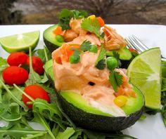 Avocado gevuld met Zalm