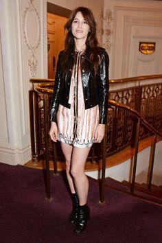 Charlotte Gainsbourg Style staple: Mid-calf, block-heel boots.
