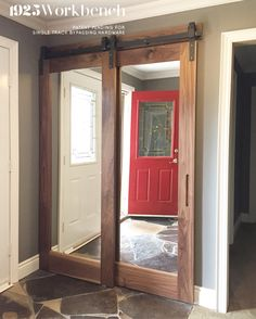 Lovely Barn Door Hallway