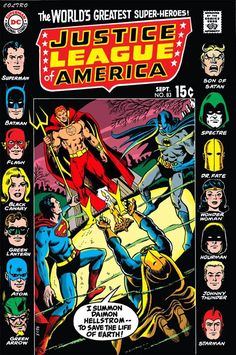 Justice League of America (Volume) - Comic Vine Dc Comic Books, Vintage Comic Books, Vintage Comics, Comic Book Covers, Comic Book Characters, Comic Character, Comic Art, Dc Comics Superheroes, Marvel Dc Comics