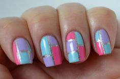 Glitter and Gloss Nails: Sally Hansen I Heart Nail Art Contest Spring Color Block