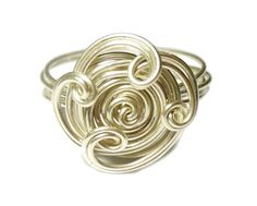 Wire Wrapped Sterling Silver Open Flower Ring  $20.00