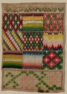 A Mid 19th Century MEXICAN Sampler Dated 1857 ~ The Art Institute of Chicago