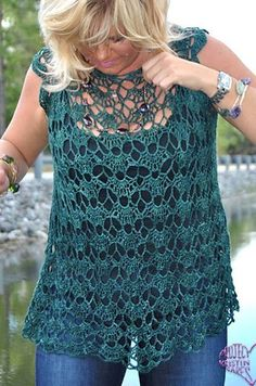 Irish crochet &: CROCHET BLOUSE.