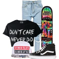 A fashion look from August 2015 featuring Boohoo jeans and Vans sneakers. Browse and shop related looks.