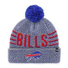 cc48c9ab0de NFL Buffalo Bills 47 Mezzo Cuff Knit Beanie with Pom One Size Gray