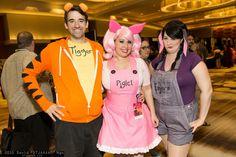 Tigger, Piglet, and Eeyore