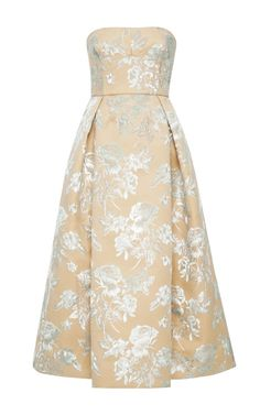 Floral Bonded Duchesse Satin Dress by Rochas - Moda Operandi 5685 dollars