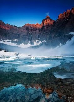 Iceberg Lake, Glacier National Park, Montana, USA
