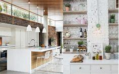 pared ladrillo visto cocina decoración home interiordesign