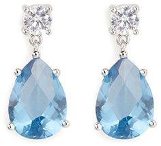 CZ BY KENNETH JAY LANE Cubic zirconia dangle stud earrings