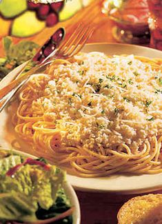 The Old Spaghetti Factory: Browned Butter and Mizithra Cheese Recipe.  Pinner said she orders her Mizithra cheese from The Old Spaghetti Factory