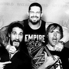 Shield reunion in the making. (I believe the pic is a manip but still cool) Dean Ambrose Shield, Wwe Dean Ambrose, Le Shield, The Shield Wwe, Wwe Superstar Roman Reigns, Wwe Roman Reigns, Wwe Reigns, Watch Wrestling, Wrestling Wwe