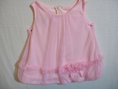 Bonnie Baby Solid Sleeveless 3/6 Months Pink Summer Dressy 100% Polyester Dress #BonnieBaby #Dressy