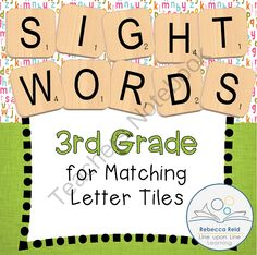 Letter Tiles Sight Words 3rd Grade Templates from Rebecca Reid's Line upon Line Learning on TeachersNotebook.com -  (17 pages)  - Practice recognizing and spelling 3rd grade sight words by matching letter tiles to the correct alphabet letters on these template pages.