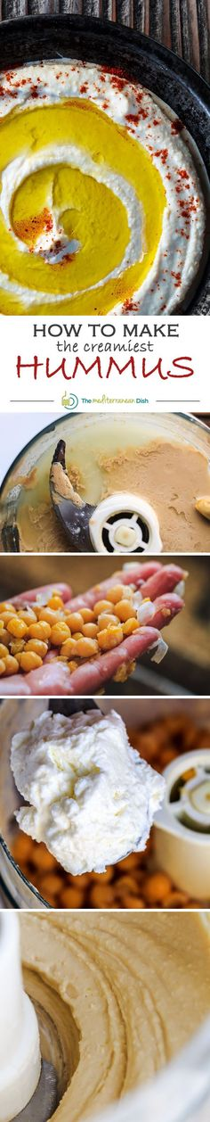 Not all hummus recipes are created equal! Learn how to make the creamiest traditional hummus with this tutorial from the experts at The Mediterranean Dish!