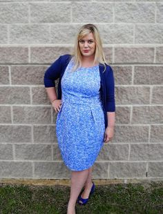 Idle Fancy: Miss Elisalex Finds Something Blue Fancy Dress Plus Size, Plus Size Fall Outfit, Plus Size Skirts, Plus Size Outfits, Fat Girl Fashion, Skinny Fashion, Curvy Fashion, Plus Size Fashion, Clothing Patterns