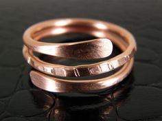 Spinning Copper Ring, Boho Ring, Copper Stacking Ring, Any Size Made to Order Ring