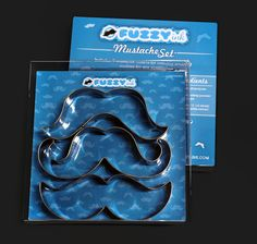 Movember Mustache Cookie Cutter Set | Fuzzy Ink | Mustache Shirts | Moustache Cookie Cutters