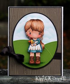 "Paper Perfect Designs by Kim O'Connell:  C.C. Designs ""Swiss Pixie Lucy with Chicken"""