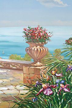 #росписьвмоскве #ваза с цветами #фреска на стене . Мастерская RootArtMoskow 84955180230